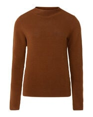 Damenpullover in Rippstrick-Optik_Damenpullover in Rippstrick-Optik, Cognac