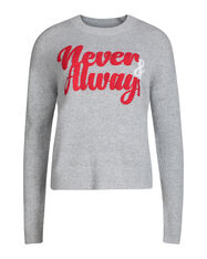 "DAMENPULLOVER ""NEVER ALWAYS""_DAMENPULLOVER ""NEVER ALWAYS"", Grau"