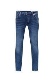 Herren-Slim-Fit-Jog-Denim Jeans mit Tapered Leg_Herren-Slim-Fit-Jog-Denim Jeans mit Tapered Leg, Blau