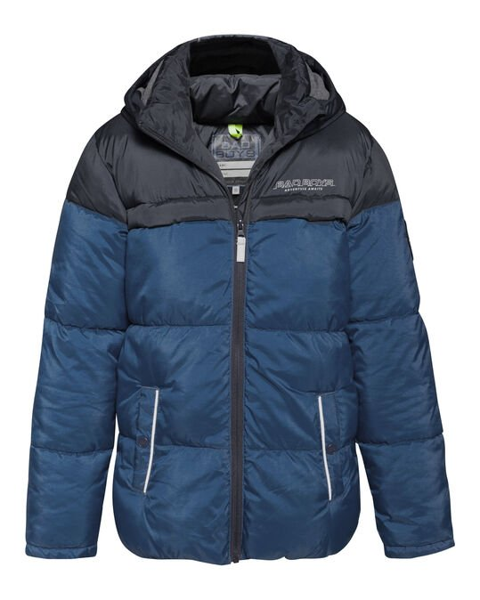 Jungenjacke in Colourblock-Optik Marineblau
