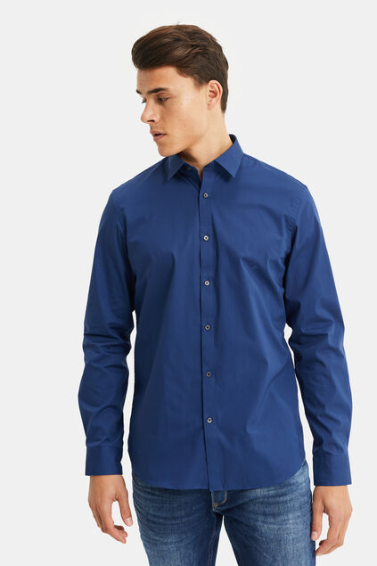 Herren-Regular-fit-hem mit stretchanteil Indigo