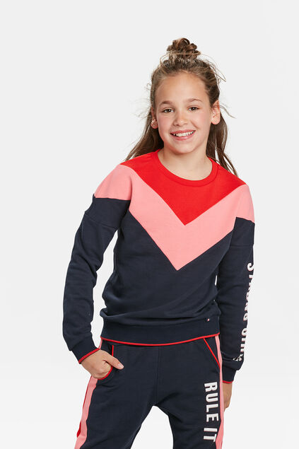 MÄDCHEN-SWEATSHIRT IN COLORBLOCK-OPTIK Blau