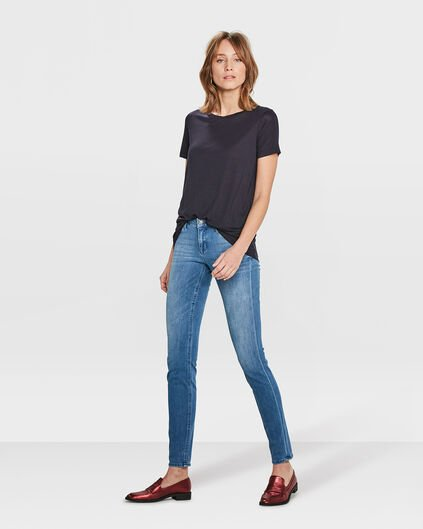 DAMEN-SKINNY-JEANS AUS 360°-STRETCH-DENIM Blau