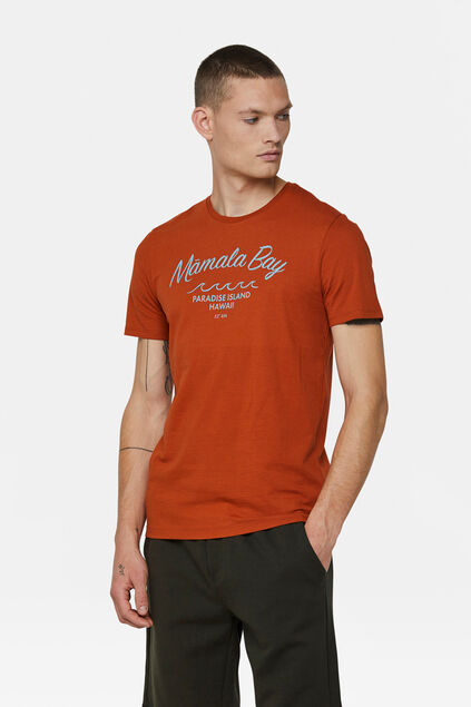 "Herren-T-Shirt mit ""Mamala Bay""-Print Orange"