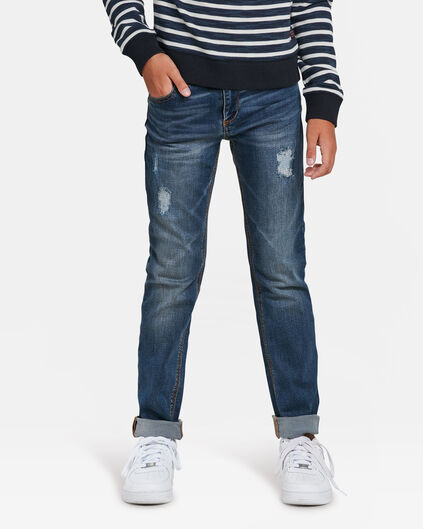 JUNGEN-SLIM-FIT-JEANS AUS POWERSTRETCH Blau