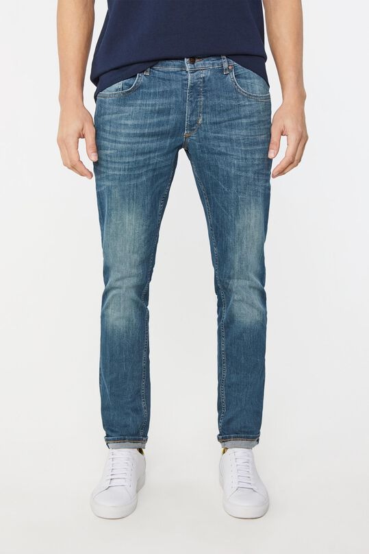 Herren-Slim-Fit-Jeans mit Superstretch Blau