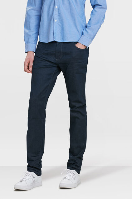 Herren-Skinny-Fit-Super-Stretch-Jeans Marineblau