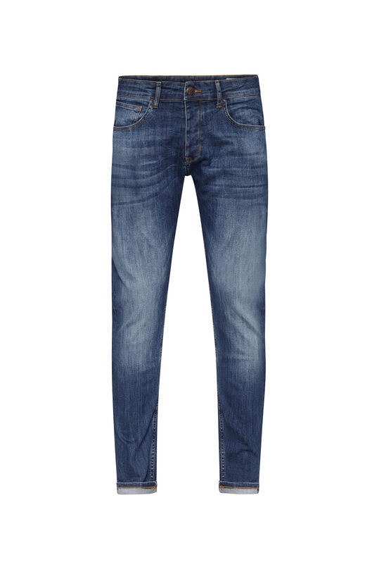 Herren-Slim -Fit-Jeans aus Comfort-Stretch-Denim Blau