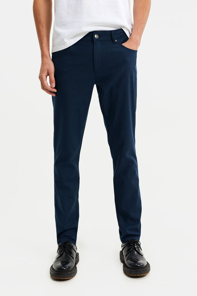 Herren-Slim-Fit-Hose im 5-Pocket-Stil Blau