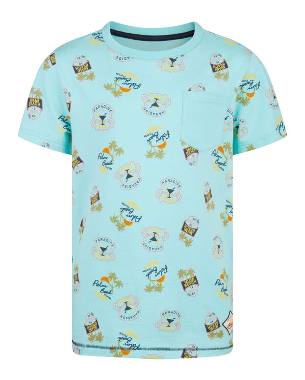 "JUNGEN-T-SHIRT ""PALM BEACH"" Türkis"