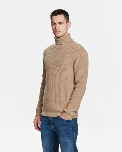 HERRENPULLOVER IN RIPP-OPTIK Beige