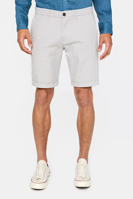Herren-Slim-Fit-Shorts Hellgrau