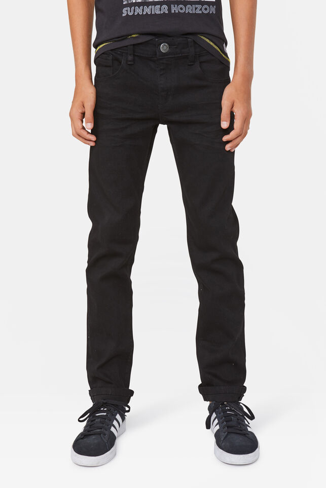 Jungen-Regular-Fit-Jeans aus Superstretch Schwarz