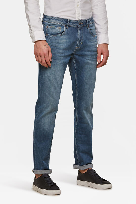 Herren-Regular-Fit-Jeans aus Super-Stretch Blau