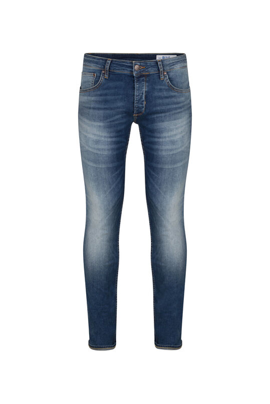HERREN-SUPERSTRETCH-JEANS MIT TAPERED LEG Blau