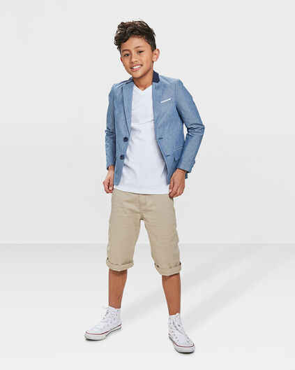 JUNGEN-CHINO-SHORTS IM REGULAR-FIT Gold