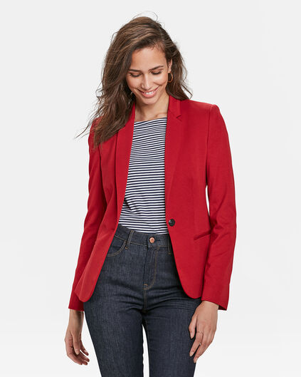 DAMEN-SLIM-FIT-BLAZER Hellrot