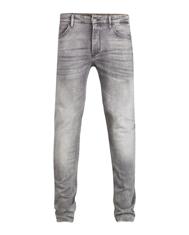 HERREN-JOG-DENIM MIT TAPERED LEG Grau