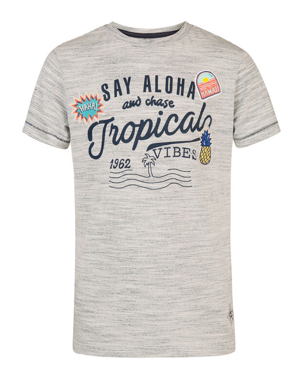 "JUNGEN-T-SHIRT ""TROPICAL VIBES"" Blau"