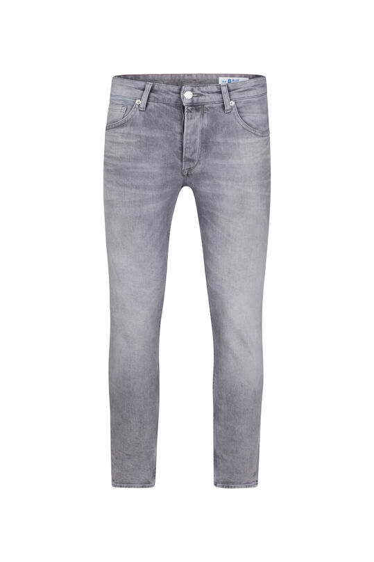 Herren-Slim-Fit-Jeans aus comfort stretch mit Tapered Leg Hellgrau