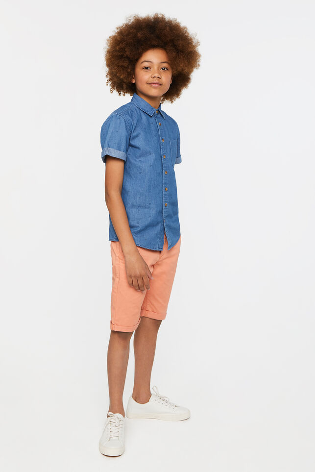Jungen-Slim-Fit-Chinoshorts Orange
