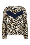 Damen-Sweatshirt mit Animal-Print, Hellbraun