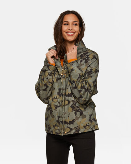 Damen-jacke mit camouflage-muster 59174c3e1a