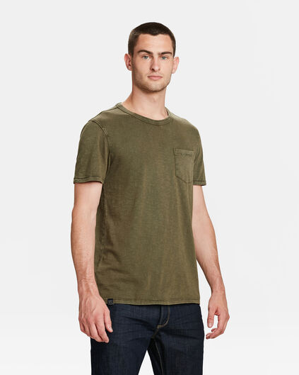HERREN-T-SHIRT IN GARMENT-DYE-OPTIK Armeegrün