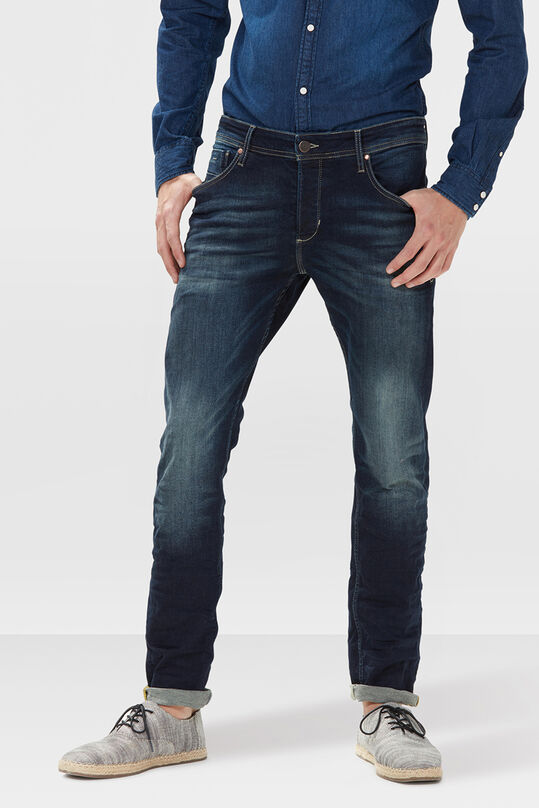HERREN-SLIM-TAPERED-SUPER-STRETCH-JEANS Dunkelblau