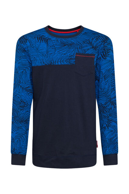 Jungenshirt in Colourblock-Optik Dunkelblau