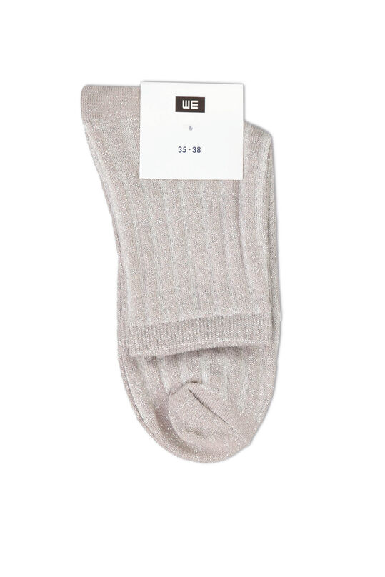 Damen-Glitzersocken Grau
