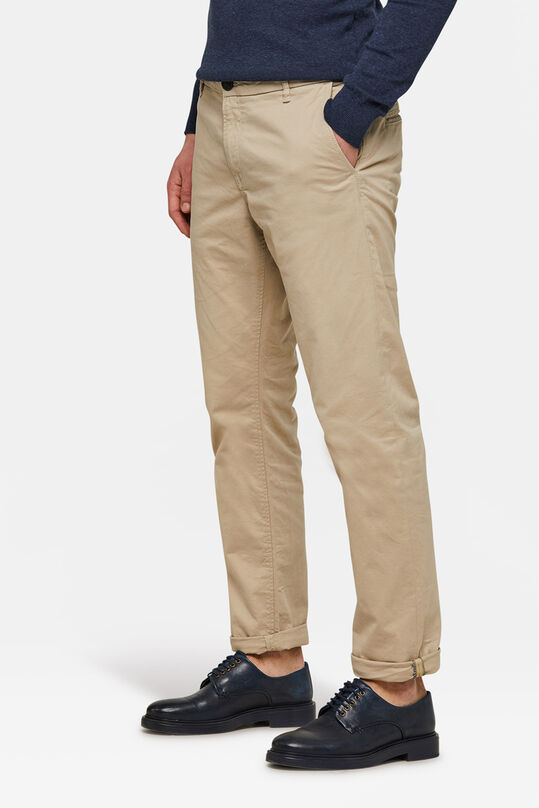 HERREN-REGULAR-FIT CHINO MIT TAPERED LEG Elfenbein