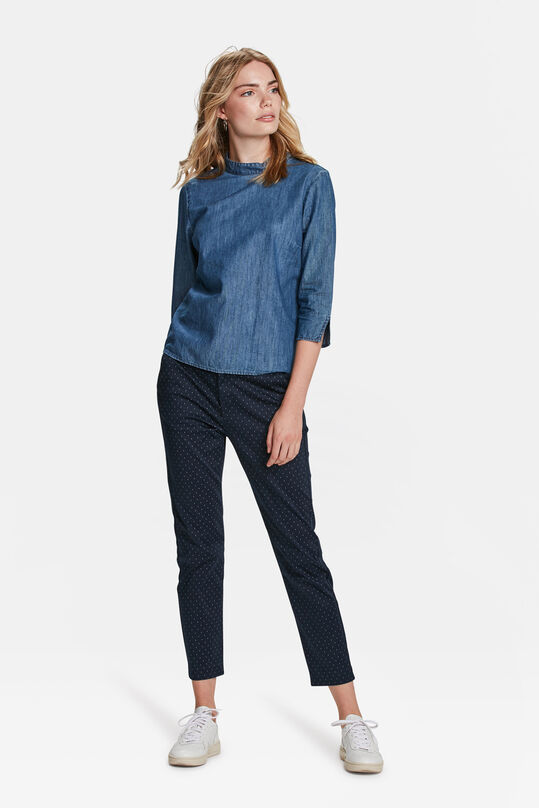 DAMEN-SLIM-FIT-CHINO MIT GRAFIKMUSTER Marineblau