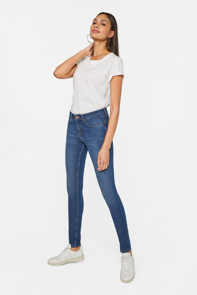 Damen-Superskinny-Shaping-Jeans Blau