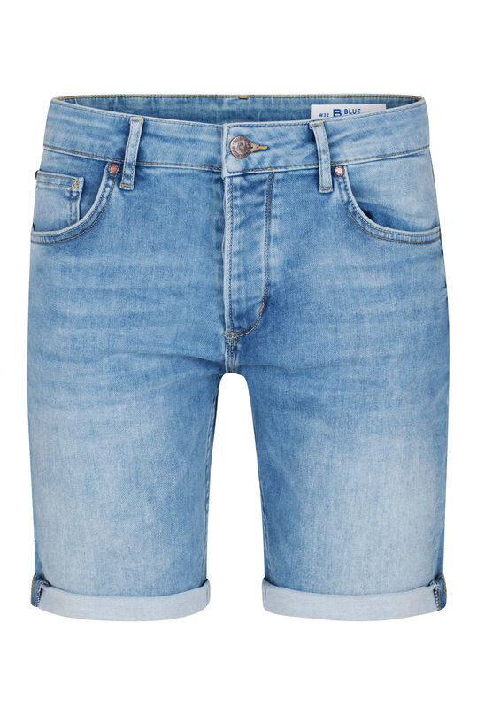 Herren-Regular-Fit-Shorts aus Jog-Denim Hellblau