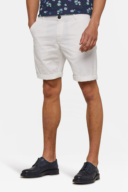 Herren-Regular-Fit-Chinoshorts Weiß