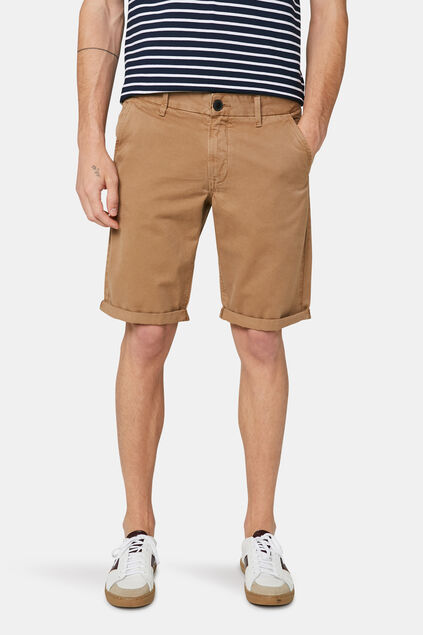 Herren-Chino-Shorts (Long Fit) Beige