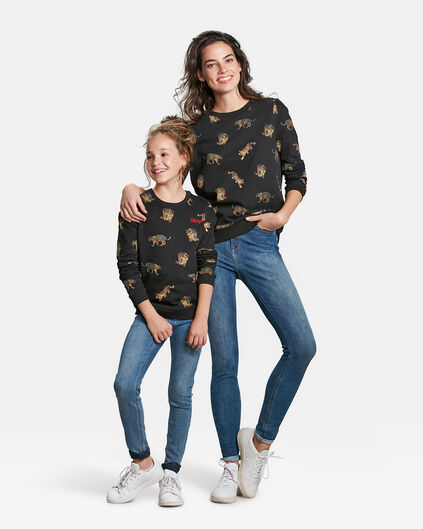 Mini me set: SWEATSHIRT MIT LEOPARDENMUSTER