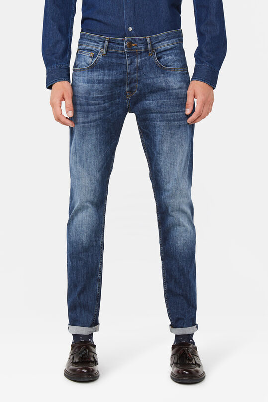 Herren-Tapered-Fit-Jeans mit Comfort-Stretch Blau