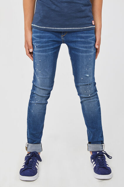 Jungen-Super-Skinny-Fit-Jog-Denim Dunkelblau