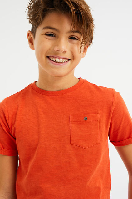 JUNGEN-T-SHIRT Orange
