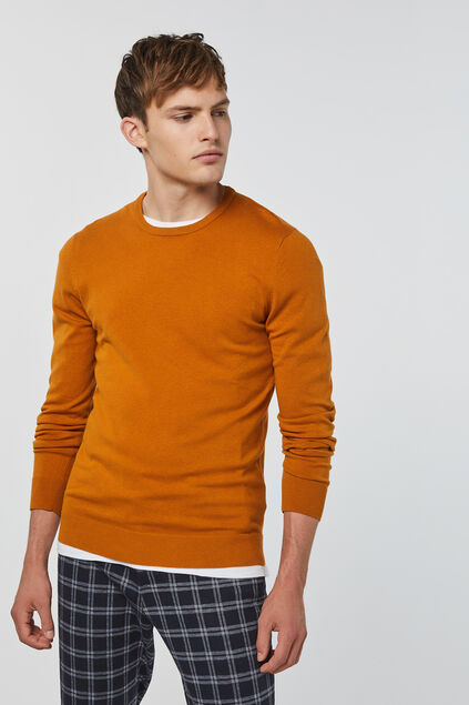 Herrenpullover Orange