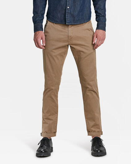 HERREN-SLIM-FIT-CHINO MIT TAPERED LEG Cognac