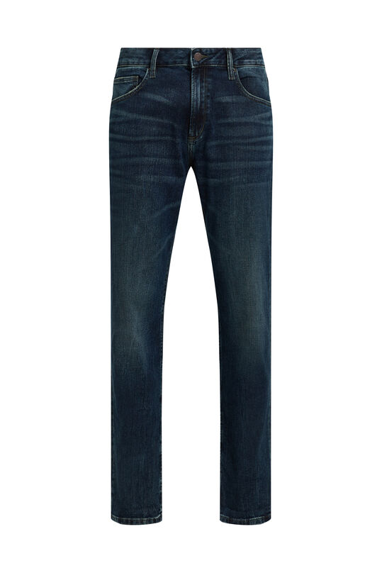 Herren-Regular-Fit-Jeans Dunkelblau