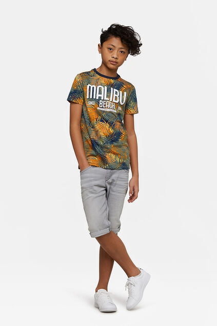 Jungen-Jog-Denim-Shorts mit Slim-Fit-Passform Hellgrau