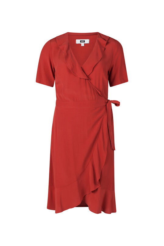 Damenkleid in Wickel-Optik Rot