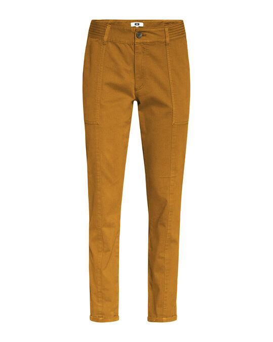 Damen-Regular-Fit-Cargohose Ockergelb