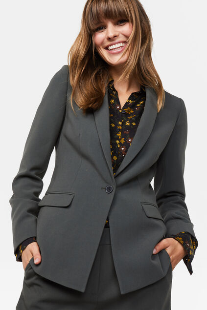 Damen-Regular-Fit-Blazer Grau