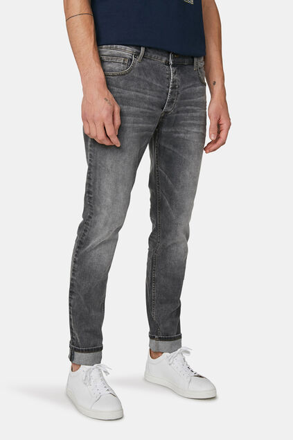 Herren-Slim-Fit-Jeans mit Tapered Leg Grau