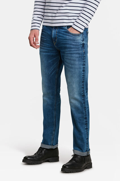 HERRENJEANS MIT TAPERED LEGS Blau